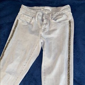 Zara grey jeans with embellishment on the side